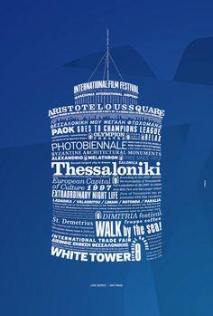 Thessaloniki poster by Unusual , via Behance