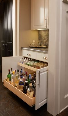 Like This Pull Out Cabinet For Bottles