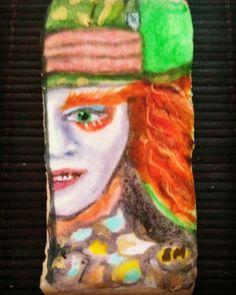 Galleta pintada a mano el sombrerero Alice in Wonderland