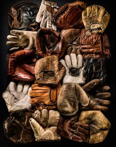 You can tell that each glove has its own story. Timothy Hogan