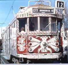 Iconic Melbourne Tram Enhanced With The Art Of Mirka Mora  << I'd love to hug Mirka Mora until she calls the Police