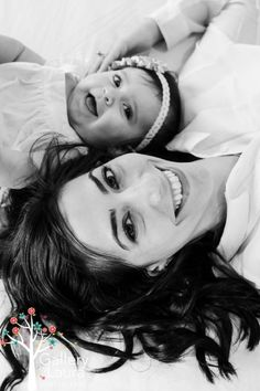 Mother and baby photo idea. Adorable!