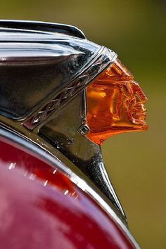"""I know it's not from an Indian motorcycle. """"It's a Pontiac."""" But the iconography is thematically related. Vintage Motorcycles, Cars And Motorcycles, Indian Motorcycles, Motorcycle Rides, Vintage Bicycles, Car Hood Ornaments, Auto Retro, Retro Cars, Automotive Art"""