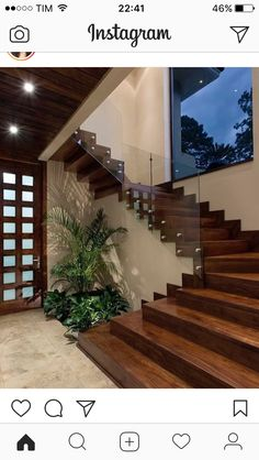 Modern Staircase Design Ideas - Stairs are so common that you don't give them a reservation. Look into best 10 examples of modern staircase that are as sensational as they are . Home Stairs Design, Modern House Design, Home Interior Design, Stair Design, Staircase Design Modern, Interior Doors, House Staircase, Staircase Ideas, Staircase Remodel