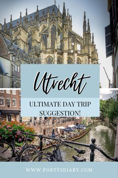 Looking for a one day trip suggestion in the Netherlands? Then on this post, I'm sharing how you can spend one amazing day in Utrecht, right at the heart of the Netherlands! Europe Travel Guide, Europe Destinations, Travel Guides, One Day Trip, Utrecht, Cool Places To Visit, Barcelona Cathedral, Netherlands, Amazing
