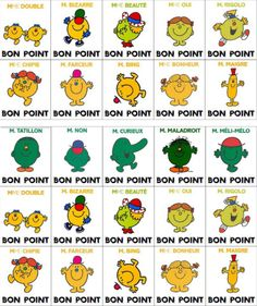 Nice good points to print Mr & Mrs Mr Mrs, Mr Men Little Miss, Monsieur Madame, Le Point, Diy For Kids, Printables, Week End, Manon, Routine Matin
