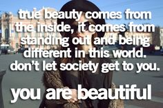 We are unique and beautiful in our own ways. Looking beyond bias and stereotypical thinking allows us to appreciate uniqueness and beauty.