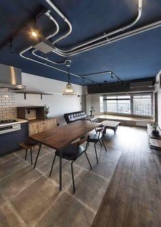 Electrical Shop, Black Interior Design, Loft, Beautiful Homes, House Design, Living Room, House Styles, Furniture, Home Decor