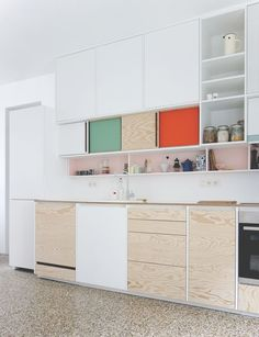 plywood kitchen.