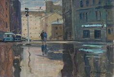 Yuri Pimenov, Early morning in Moscow