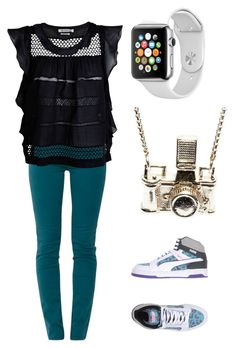 Untitled #41 by stray-arrow on Polyvore featuring polyvore, fashion, style, Étoile Isabel Marant, 7 For All Mankind, Puma, Kiel Mead Studio, Samsung and clothing