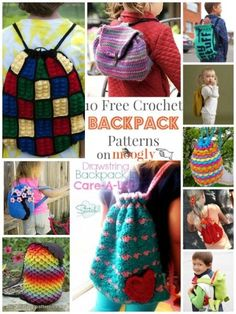 10 Fun, Free Crochet Patterns for Backpacks | CrochetStreet.com