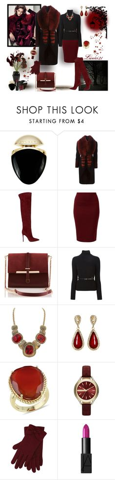 """""""still marsala"""" by lumi-21 ❤ liked on Polyvore featuring Rick Owens Lilies, Diane Von Furstenberg, Bulgari, Givenchy, Gianvito Rossi, Dsquared2, Amrita Singh, Ice, Armani Exchange and M&Co"""