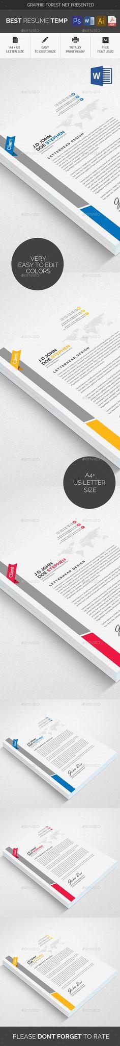 letter format on letterhead%0A Corporate Letterhead  Stationery Templates   Stationery Templates    Pinterest   Stationery templates and Template