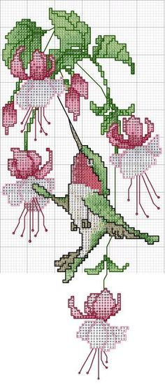 Botanical cross stitch - free cross stitch pattern