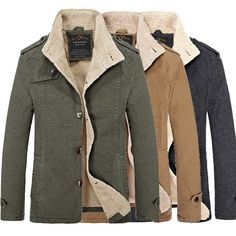 fbe1aec05646b Winter Mens Fashion Plus Size Casual Slim Jacket Thick Warm Solid Color  Coat Men s Coats And