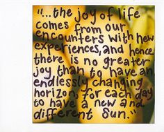 """into the wild.  Didn't  read the book, but the movie is one I'll never forget. In his story we learn that we don't need """"things""""  or $$ to make us happy;explore the world with an open mind. Every person we meet has something they can share with us to impact our lives In a positive way; it just takes a little more effort on our part in some instances."""