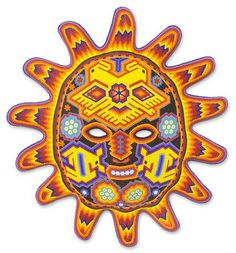 Shop for Handmade Beadwork 'Red Sunset' Huichol Mask (Mexico). Get free delivery On EVERYTHING* Overstock - Your Online Art Gallery Shop! Red Sunset, Online Art Gallery, Eagles, Vibrant Colors, Wings, Artisan, Free, Beadwork, Home