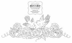 Doe C Doe Embroidery Transfers | if you go to my flickr embroidery transfer set you can get all 4 ...