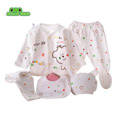 (5pcs/set)Newborn Baby 0-3M Clothing Set Brand Baby Boy/Girl Clothes 100% Cotton Cartoon Underwear #Affiliate