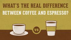 Learn the real difference between coffee and espresso so you know exactly what you're getting the next time you drink an espresso or enjoy a cup of joe. Best Coffee Maker, Best Coffee Mugs, Hot Coffee, Coffee Good For You, I Love Coffee, Coffee Facts, Unbelievable Facts, Espresso, Tableware