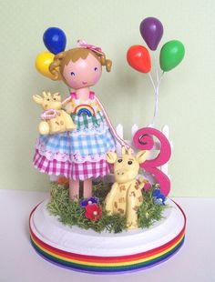 rainbow cake topper by Tiny Blossoms, via Flickr