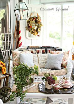 Five Fabulous Fall Porches - The Cottage Market