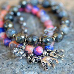 Cotton Candy Buddha Bracelet. Love the elephants (fab.com)