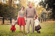 Fall family photos. Girls wearing Persnickety fall 2013 Golden Girls line, mom wearing dress from Ribbon Chix in Murray,Ky