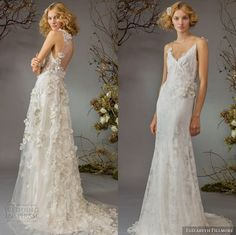 "weddinginspirasi: "" Our top 2 editor's picks from Elizabeth Fillmore Fall 2014 Wedding Dresses """