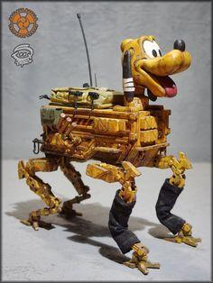 Favorite Cartoon Character, Character Art, Character Design, Dark Disney, Disney Art, Robot Cute, Post Apocalyptic City, Cyberpunk Rpg, Apocalypse Art