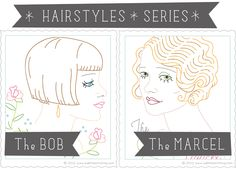 Sublime Stitching - Hairstyles Series Embroidery Patterns by Jenny Hart
