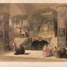 David Roberts, 'Church of the Annunciation, Nazereth', 1837.