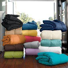 No more just plain white down comforters. La Crosse® Down Comforter / Duvet | The Company Store
