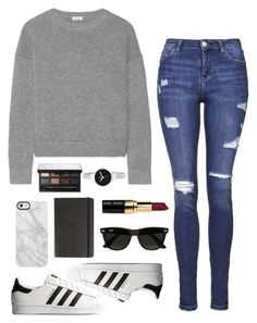 """""""Untitled #150"""" by rachelallegra ❤ liked on Polyvore featuring Issa, Topshop, adidas Originals, Bobbi Brown Cosmetics, Ray-Ban, Christian Van Sant, Uncommon, Moleskine and NARS Cosmetics"""
