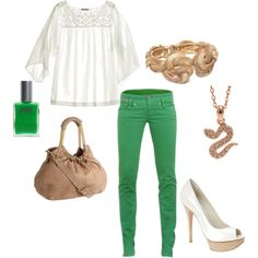love this look...i wanna get colored jeans soon