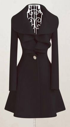 Ruffled collar coat. I need this, and I don't even like ruffles.