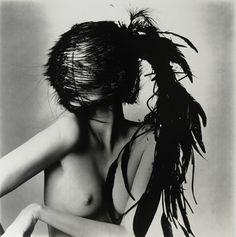 Chanel Feather Headdress. 1994. Irving Penn.