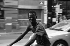 """Soooo this is a story from my photo adventure with Huss on a massively hot day (like 43C .... or 109.5F)  I had dropped back a little so Huss could take some Architectural Shots and scan the street... Speeding along Brunswick St was this guy on his bike... perfect for my motion blur in this light... I sett the camera... waited a beat then aimed. No sooner had I got him in focus he Spots me and YELLS! """"HEY!! YOU! WHAT YOU DOING!!"""" And he slammed on his breaks stopping right in front of me…"""