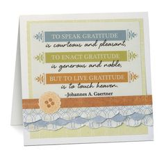 Scallop Tearing Tool Scrapbooking Card Idea by Creative Memories