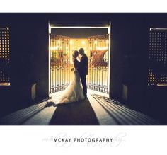 We simply LOVE the wrought iron gates at Centennial Vineyards... they make a stunning location for a night shot. This photo is from Clare & Sam's beautiful wedding   #bowralwedding #centennialvineyards #mckayphotography #bowralweddingphotographer @centennialvineyards