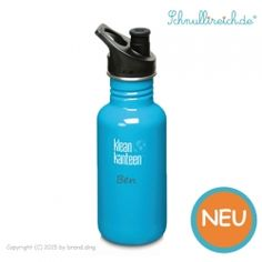 Klean Kanteen Trinkflasche mit Namen (Blau) (500 ml)