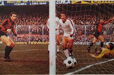 GENOA-MILAN 1-1 1977-78 diciassettesima giornata di campionato al 72' ROBERTO PRUZZO segna il gol del definitivo 1-1 nulla da fare per il portiere del Milan ENRICO ALBERTOSI
