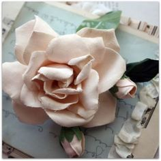 Fabric flower and buds...
