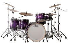 Goth drum set | purple acoustic guitar a purple drumset