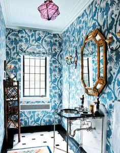 Top 10 Powder Room Wallpapers   McGrath II Blog