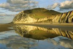 Effet de miroir sur le cap Blanc-Nez,  Nord-Pas-de-Calais.Mirror effect on the Cap Blanc-Nez.
