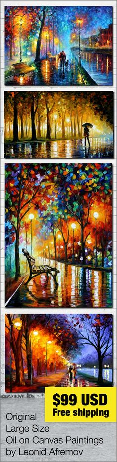 Who Else Wants this colorful Paintings? ___________________________  Click on the image to see all discounted items. Free worldwide shipping included.  #art #painting #afremov #wallart #walldecor #fineart #beautiful #homedecor #design