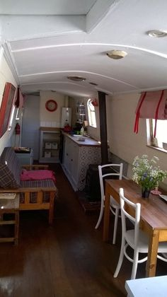 See related links to what you are looking for. Narrowboat Kitchen, Narrowboat Interiors, Little Houses, Small Houses, Canal Boat Interior, Barge Interior, Barge Boat, Sailboat Living, Narrow Boat