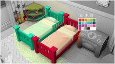Lana CC Finds - Toodler's Bed Recolored